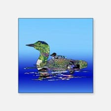 "Colorful Loon Square Sticker 3"" x 3"""
