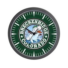 Breckenridge Snowman Circle Wall Clock