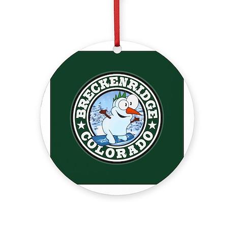 Breckenridge Snowman Circle Ornament (Round)