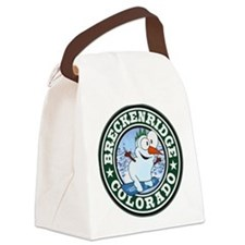 Breckenridge Snowman Circle Canvas Lunch Bag