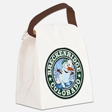 Breckenridge Snowman Circle Canvas Lunch Bag