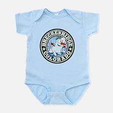 Breckenridge Snowman Circle Infant Bodysuit