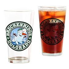 Breckenridge Snowman Circle Drinking Glass