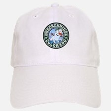 Breckenridge Snowman Circle Baseball Baseball Cap