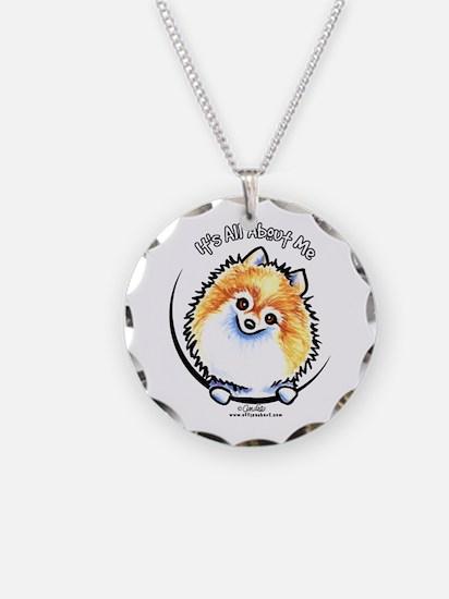 Pomeranian IAAM Necklace Circle Charm