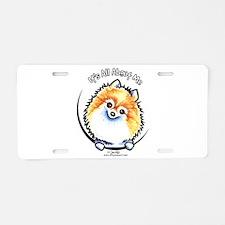 Pomeranian IAAM Aluminum License Plate