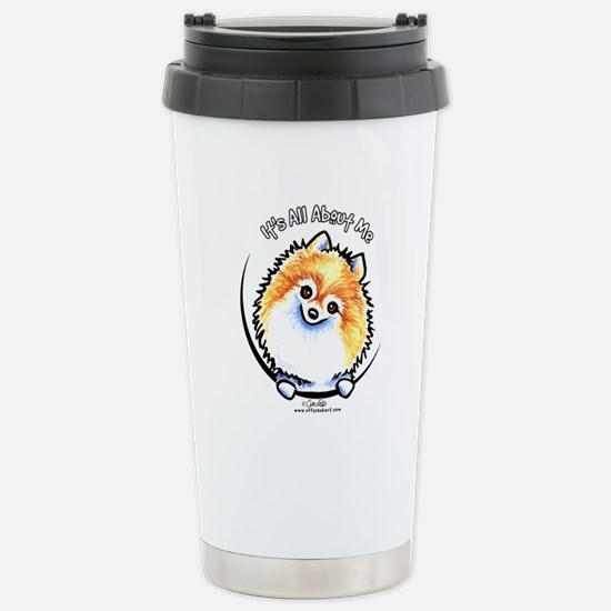 Pomeranian IAAM Stainless Steel Travel Mug