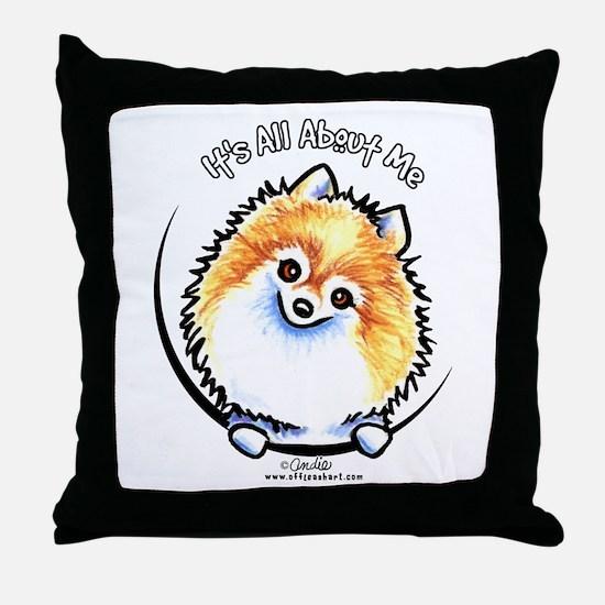 Pomeranian IAAM Throw Pillow