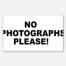No Photographs Please! Sticker (Rectangle)