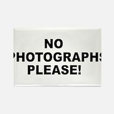 No Photographs Please! Rectangle Magnet