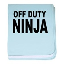 Off Duty Ninja baby blanket