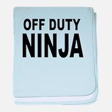 Off Duty Ninja baby blanket