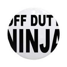 Off Duty Ninja Ornament (Round)