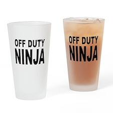 Off Duty Ninja Drinking Glass