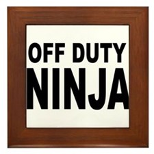 Off Duty Ninja Framed Tile