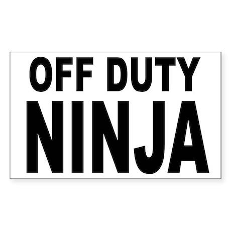 Off Duty Ninja Sticker (Rectangle)