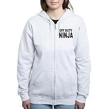 Off Duty Ninja Zipped Hoody