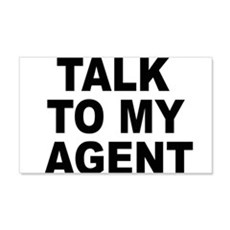 Talk To My Agent Wall Decal