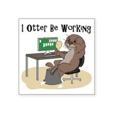 "Cool Otter Square Sticker 3"" x 3"""