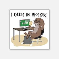 """Unique Sea otter Square Sticker 3"""" x 3"""""""