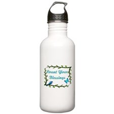 Count your blessings Water Bottle