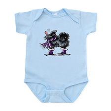 Black Pomeranian Snow Infant Bodysuit