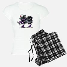 Black Pomeranian Snow Pajamas