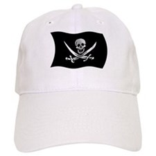 Wavy Pirate Flag Baseball Cap