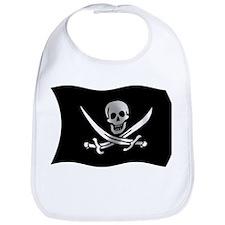 Wavy Pirate Flag Bib