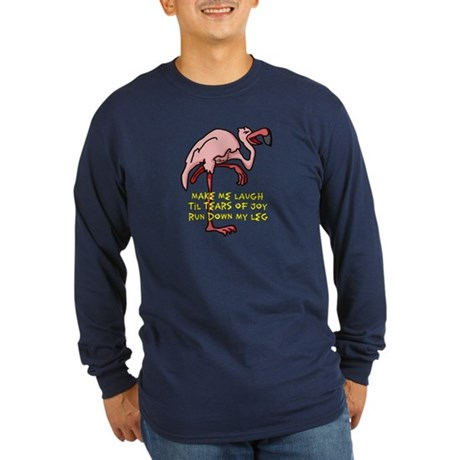 Flamingo Long Sleeve Dark T-Shirt