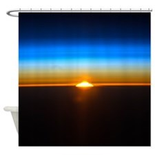 Sunrise in the Atmosphere Shower Curtain
