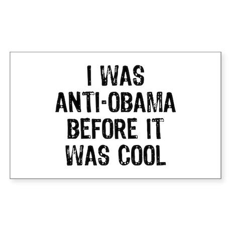 I was Anti-Obama Sticker (Rectangle)