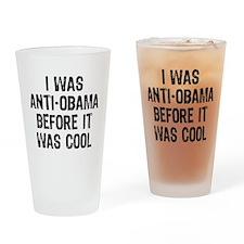 I was Anti-Obama Drinking Glass
