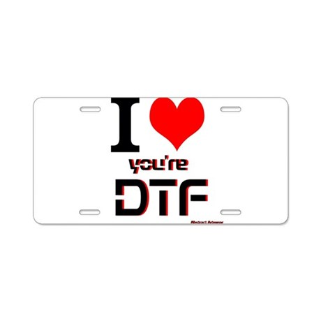 DTF Aluminum License Plate