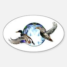 Mallards in flight Decal