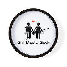 Girl Meets Geek Wall Clock