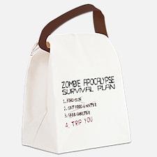 ZombieApSurvivalBLK.png Canvas Lunch Bag