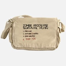 Zombie Survival Messenger Bag