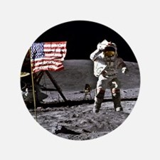 """Man On The Moon 3.5"""" Button"""