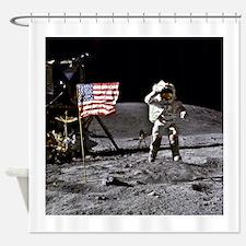 Man On The Moon Shower Curtain