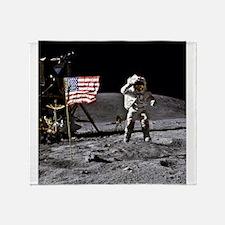 Man On The Moon Throw Blanket