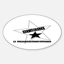 Single & Approachable Oval Decal