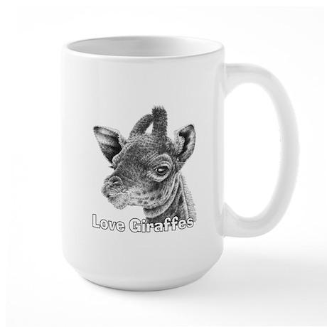 Love Giraffes Large Mug
