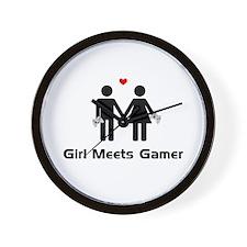 Girl Meets Gamer Wall Clock