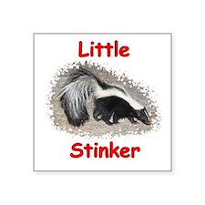 "Little Stinker (Baby Skunk) Square Sticker 3"" x 3"""