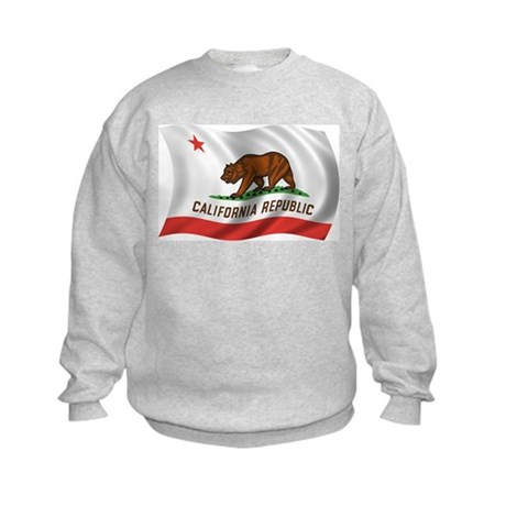 Wavy California Flag Kids Sweatshirt