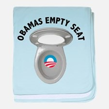 Obama Empty Chair - Toilet Seat baby blanket