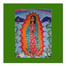 """Our Lady of Guadalupe Square Car Magnet 3"""" x"""