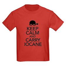 Keep Calm and Carry Iocane Kids Dark T-Shirt