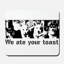 We (the corgis) ate your toast Mousepad